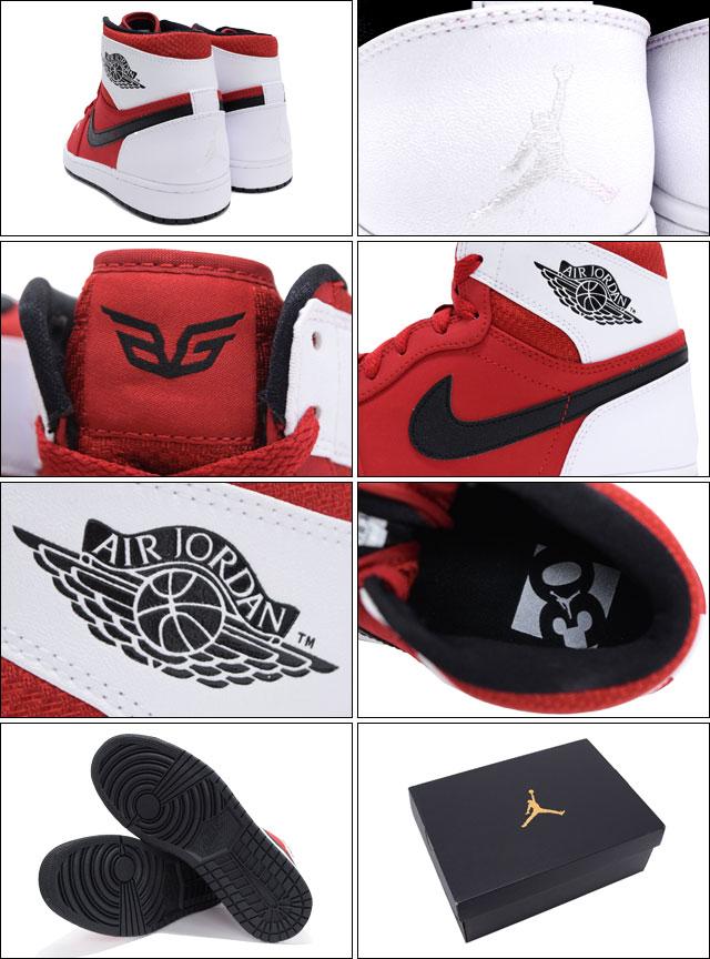 1b213ded032f Nike NIKE sneakers Air Jordan 1 retro high Gym Red Black White 30  anniversary commemorative men (men s) (nike AIR JORDAN 1 RETRO HIGH  qualified ...