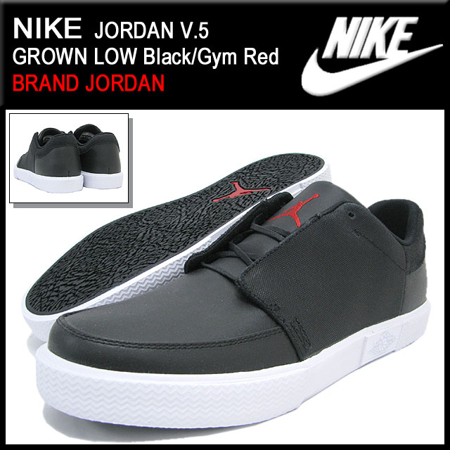 new product c993f ec3e0 Nike NIKE sneakers Jordan V.5 grown low BlackGym Red men (mens