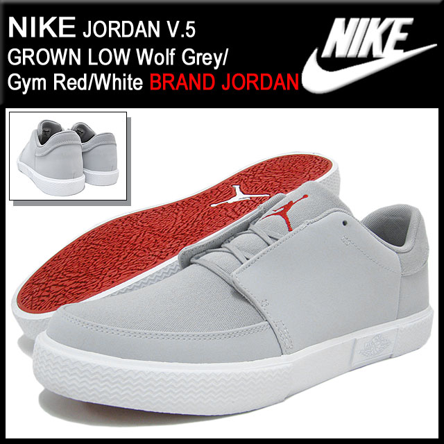 premium selection e1588 6601a ... Nike NIKE sneakers Jordan V.5 grown low Wolf Grey Gym Red White ...