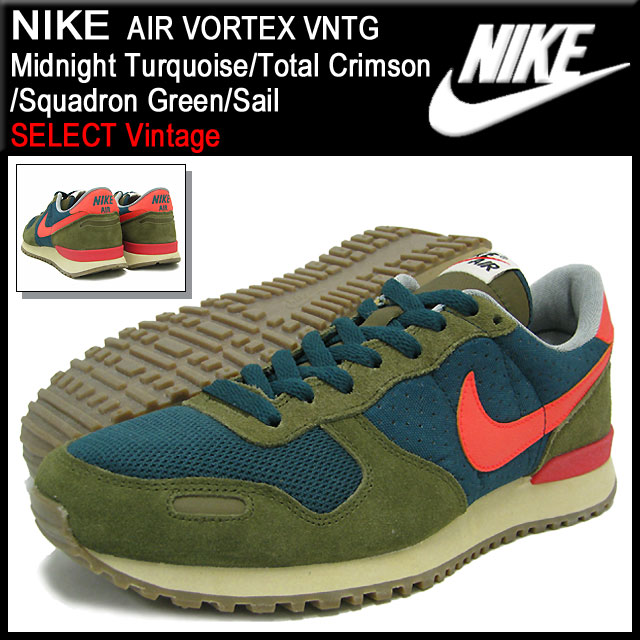 los angeles 14b55 6ce2d Men Nike NIKE sneakers air Vortex vintage Midnight TurquoiseTotal  CrimsonSquadron GreenSail limiteds (mens) (nike AIR VORTEX VNTG SELECT  Vintage ...