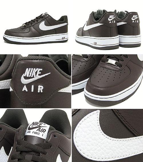 Nike NIKE sneakers air force 1 low 07 Black Tea/White ICONS men (men's) ( nike AIR FORCE 1 LOW 07 ICONS 30 anniversary Sneaker sneaker SNEAKER MENS- shoes ...