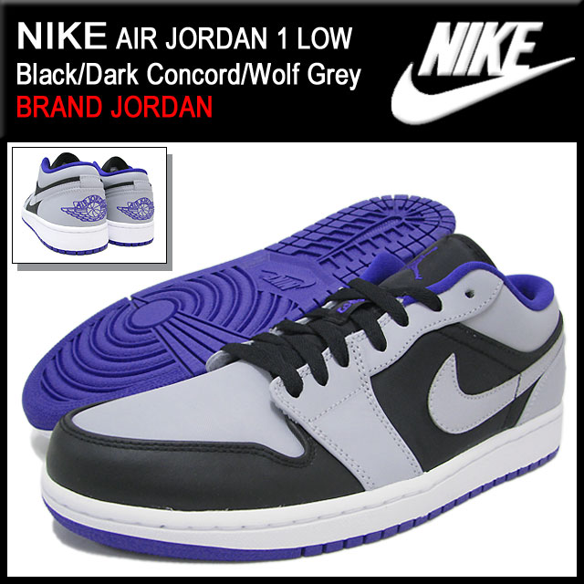 1 1 nike NIKE sneakers Air Jordan low Black Dark Concord Wolf Grey men  (male business) (nike AIR JORDAN LOW Black Dark Concord Wolf Grey BRAND  JORDAN ... e0289c34a