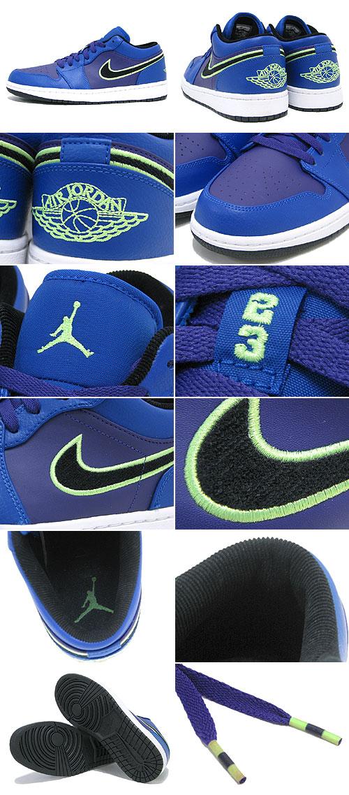 3082fa22a8c Nike NIKE sneakers Air Jordan 1 low Game Royal Flash Lime Court Purple Black  men (men s) (nike AIR JORDAN 1 LOW Game Royal Flash Lime Court Purple Black  ...
