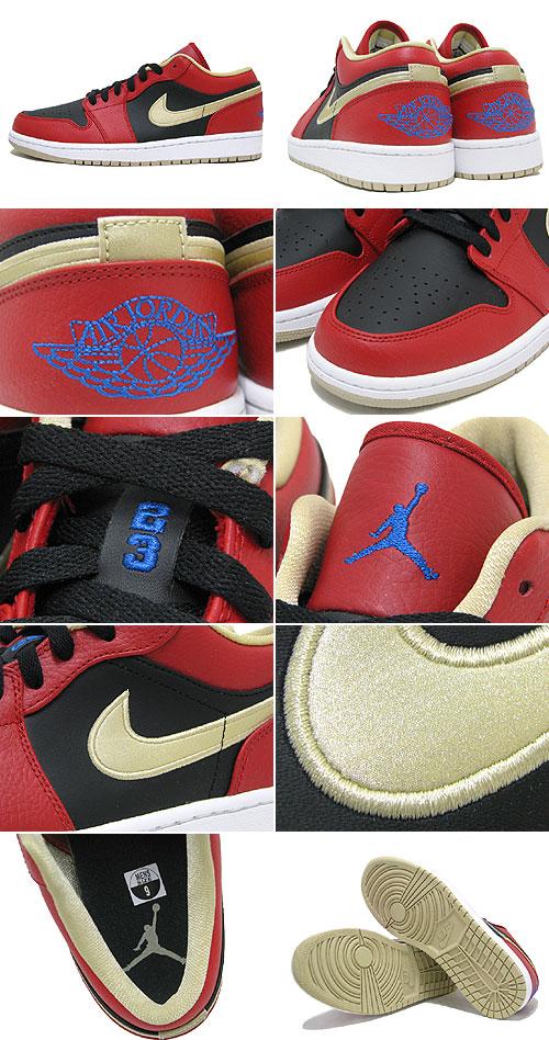 e6713e1f83a 1 1 nike NIKE sneakers Air Jordan low Gym Red Black Metallic Gold men (male  business) (nike AIR JORDAN LOW Gym Red Black Metallic Gold BRAND JORDAN  Sneaker ...