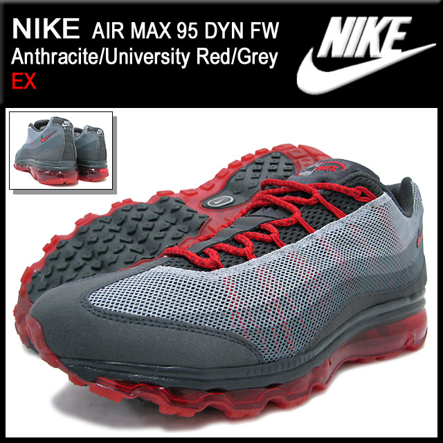 3c1776a3f9 ... Nike NIKE sneakers Air Max 95 DYN FW Anthracite/University Red/Grey  qualified men ...