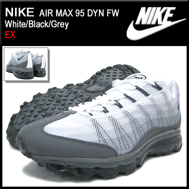 Nike NIKE sneakers Air Max 95 DYN FW WhiteBlackGrey limited men's (for the man) (nike AIR MAX 95 DYN FW EX Sneaker sneaker SNEAKER MENS, shoes shoes