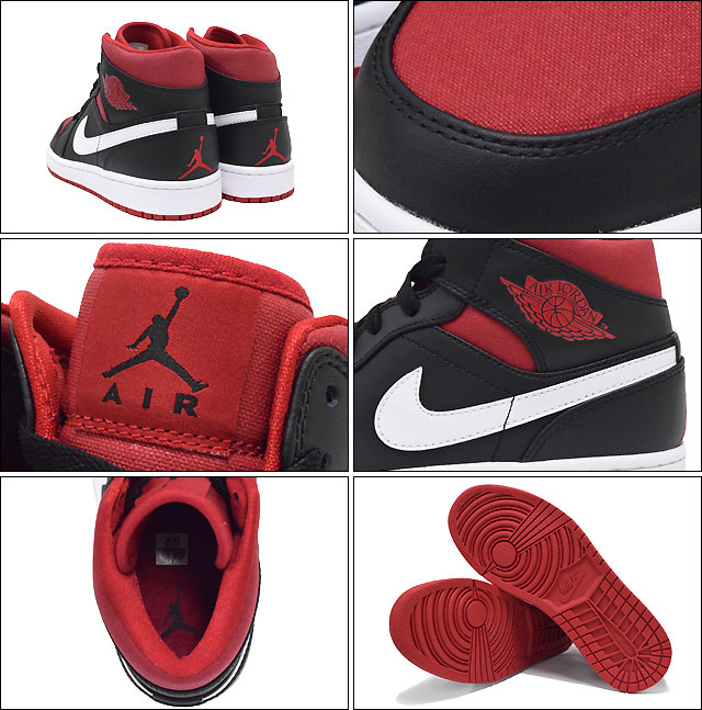 a1f6f1f4d770 Nike NIKE sneakers Air Jordan 1 mid Black Gym Red White men (men s) (nike  NIKE AIR JORDAN 1 MID BRAND JORDAN Sneaker sneaker SNEAKER MENS-shoes shoes  SHOES ...