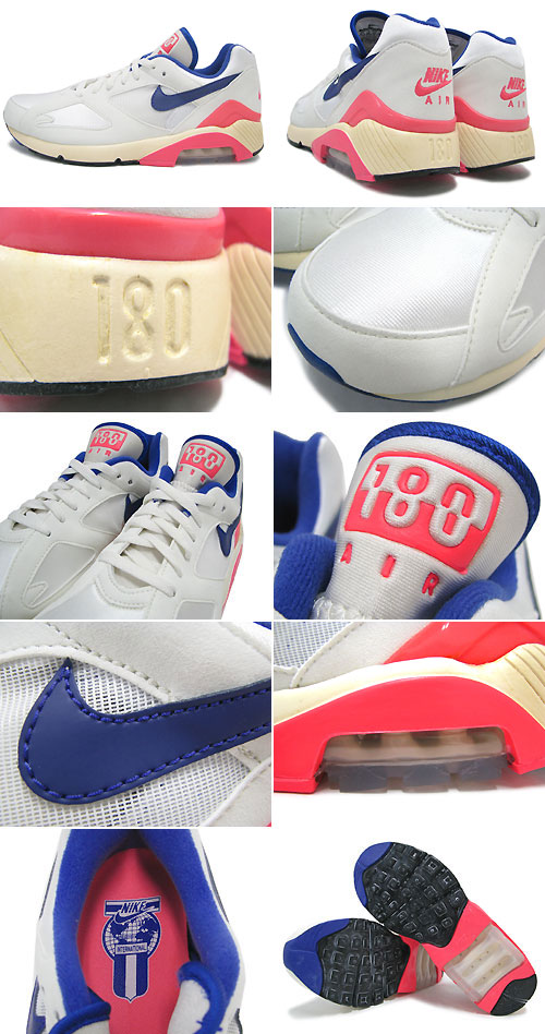 Nike NIKE sneakers Air Max 180 OG Sail Ultramarine Solar Red limited mens  (men s) (nike AIR MAX 180 OG SELECT Vintage Sneaker sneaker SNEAKER  MENS-shoes ... 9ac8dca50