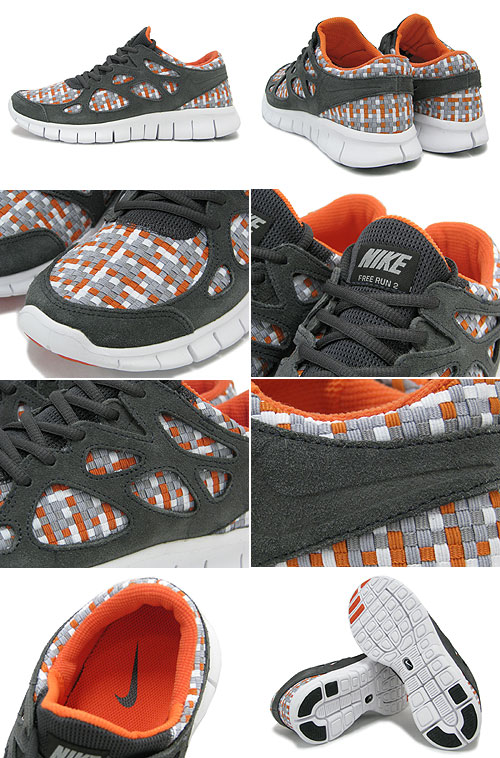 Nike Free Run+ 2 Woven Night Stadium Orange