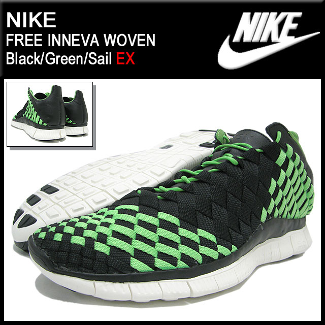 f0d35422e803 Nike NIKE sneakers-free and woven Black Green Sail limited edition men s ( men s) (nike FREE INNEVA WOVEN EX Sneaker sneaker SNEAKER MENS-shoes shoes  SHOES ...