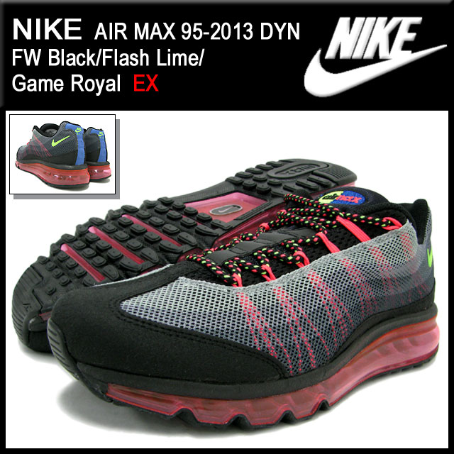 huge selection of 18492 27d10 95-2013 95-2013 nike NIKE sneakers Air Max DYN FW BlackFlash LimeGame  Royal-limited men (male business) (nike AIR MAX DYN FW EX Sneaker sneaker  SNEAKER ...