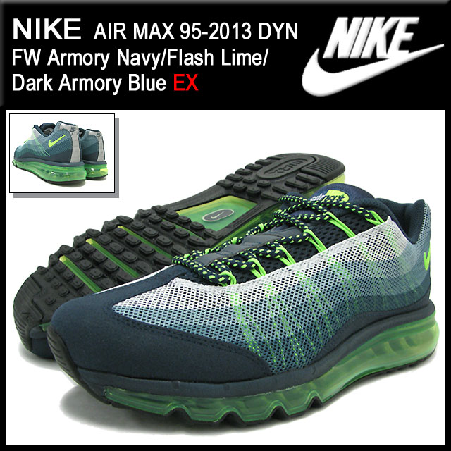 d836153ca8 ... Nike NIKE sneakers Air Max 95-2013 DYN FW Armory Navy/Flash Lime/ ...