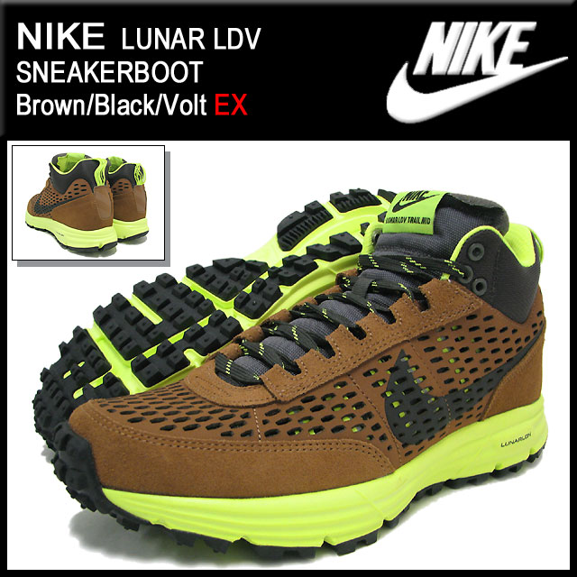 new product 3c9c5 bfe41 ... Nike NIKE sneakers luna LDV sneakers boots Brown Black Volt-limited men  ...