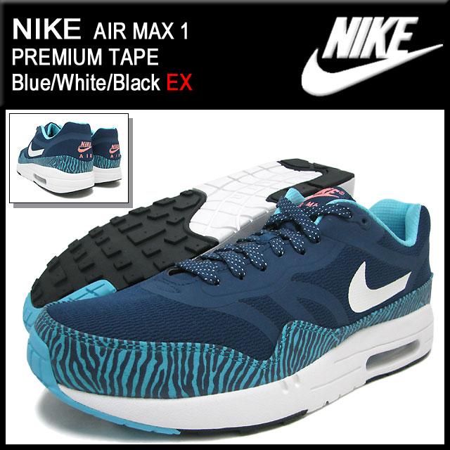 fa1c1300e4a9 1 nike NIKE sneakers Air Max 1 premium tape Blue White Black-limited men  (male business) (nike AIR MAX PREMIUM TAPE EX Sneaker sneaker SNEAKER MENS