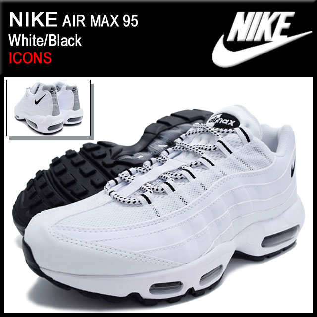 new style 67f39 7bdfe Nike NIKE sneakers Air Max 95 White Black limited edition mens (men s) (nike  AIR MAX 95 ICONS Sneaker sneaker SNEAKER MENS-shoes shoes SHOES sneaker ...