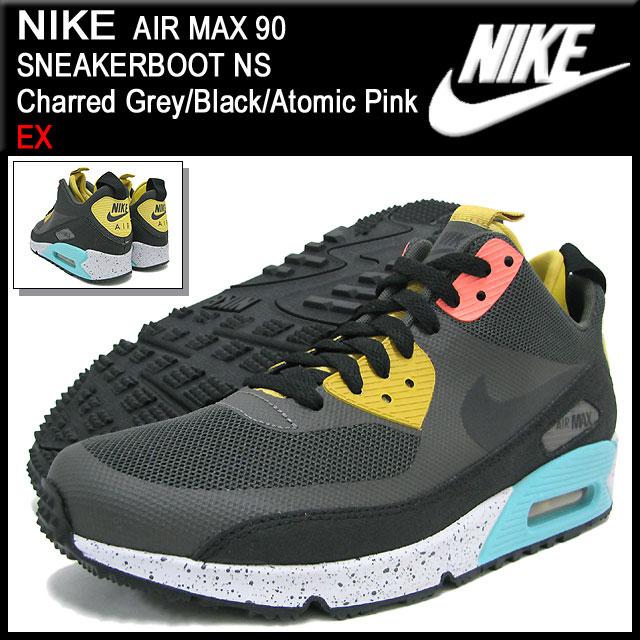 nike air max 90 mid sneakerboot schwarz