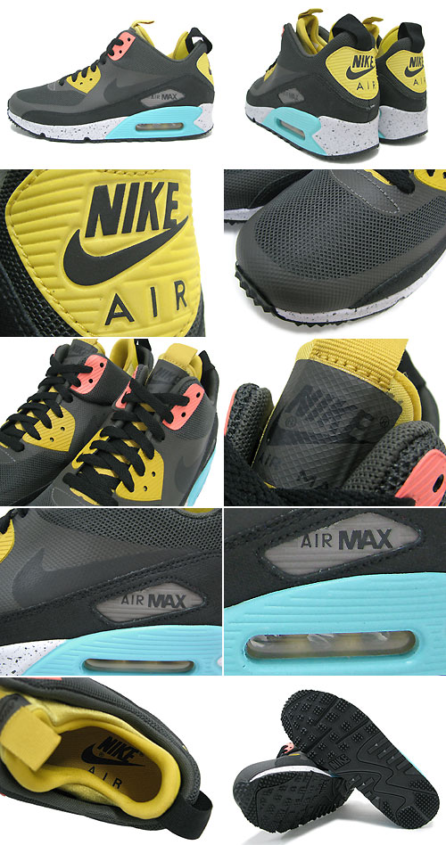 sports shoes 1cf46 e9351 ... Nike NIKE sneakers Air Max 90 sneaker boots NS Charred Grey Black Atomic  Pink
