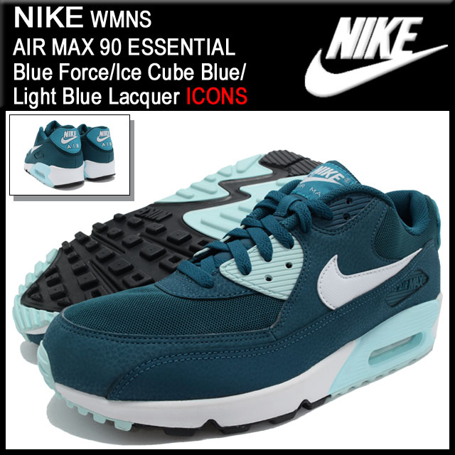 nike air max 90 womens ice blue/white cabinet