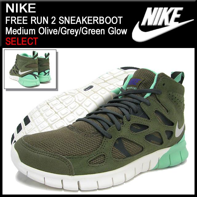 wholesale dealer 00f8f 6f26c ... Nike NIKE sneakers-free run 2 sneaker boots Medium Olive Grey Green  Glow ...