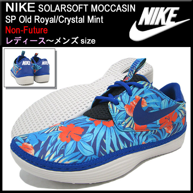 4777d792ecb0 Nike NIKE sneakers solar software moccasins SP Old Royal Crystal Mint non  future men (male business) (nike SOLARSOFT MOCCASIN SP Non-Future Sneaker  sneaker ...
