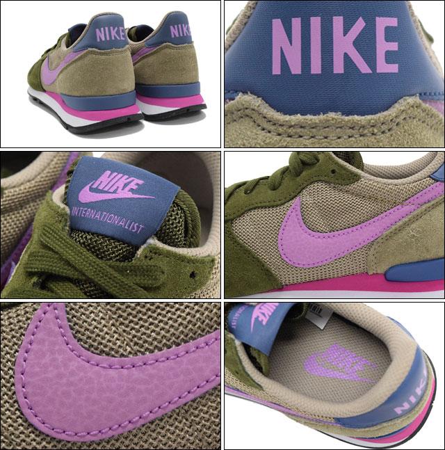 耐克运动鞋女性国际主义褪色橄榄樱辉光/竹-女士 (为妇女) (耐克 WMN 国际主义运动鞋运动鞋运动鞋女鞋鞋运动鞋 629684-303) 提起冰原的冰