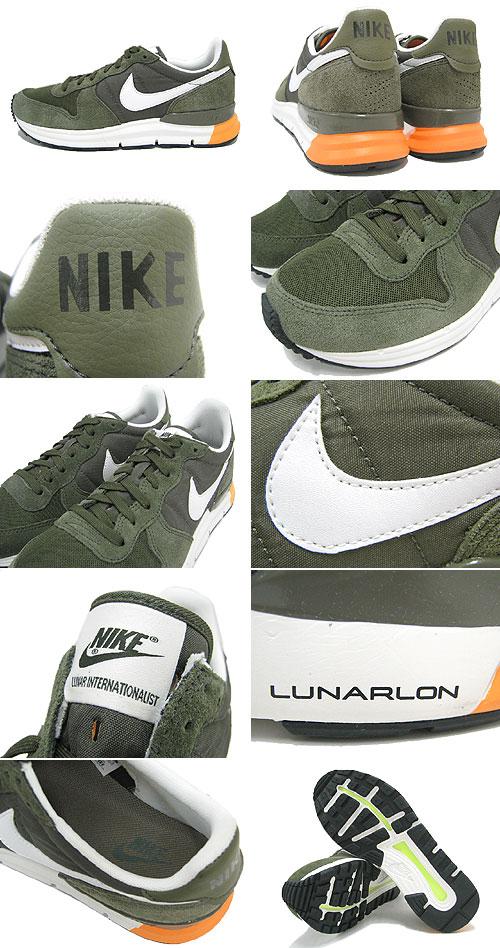 Nike 耐克运动鞋 Luna 国际主义货物卡其色,白色中, 橄榄限量版男装 (男装) (耐克农历国际主义者选择运动鞋运动鞋运动鞋男装鞋鞋鞋运动鞋 631731-302) 提起冰原的冰