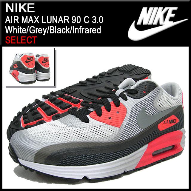 wholesale dealer 832ca 684e7 90 3.0 90 3.0 nike NIKE sneakers Air Max luna C  White Grey Black Infrared-limited men (male business) (nike AIR MAX LUNAR C  SELECT Sneaker sneaker SNEAKER ...