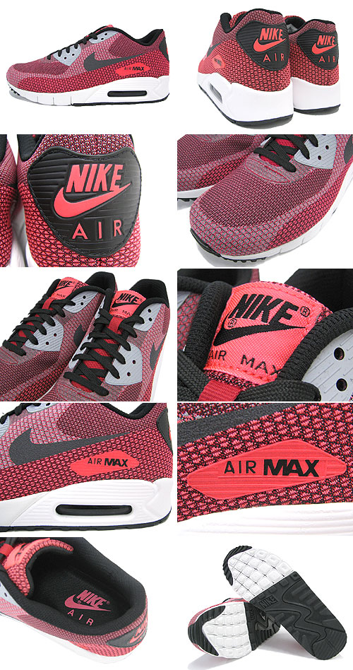 6e8091d1fc ... Nike NIKE sneakers Air Max 90 Laser Crimson/Dark Grey/Red JCRD men's  limited