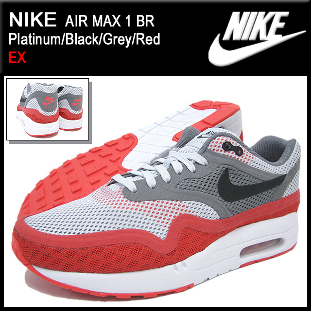 half off 99d0c 40fb5 Nike NIKE sneakers Air Max 1 breeze PlatinumBlackGreyRed limited edition  mens (mens) (nike AIR MAX 1 BR EX Sneaker sneaker SNEAKER MENS-shoes  shoes ...