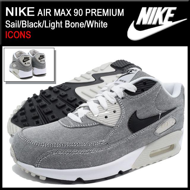 Nike NIKE sneakers Air Max 90 premium SailBlackLight BoneWhite limited men's (for the man) (nike AIR MAX 90 PREMIUM ICONS Sneaker MENS, shoes shoes