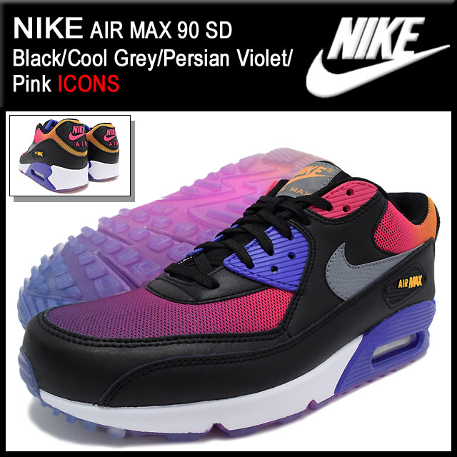 best cheap cc390 87f52 Nike NIKE sneakers Air Max 90 SD Black Cool Grey Persian Violet Pink men s  limited edition (men s) (nike AIR MAX 90 SD ICONS Sneaker sneaker SNEAKER  ...