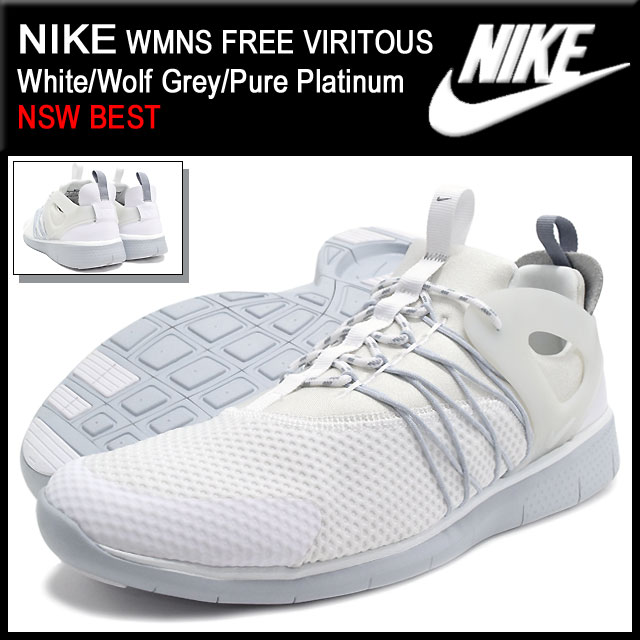 ce634072dec22 Nike NIKE sneakers Womens free from White Wolf Grey Pure Platinum Limited  Edition men s (men s) (nike WMNS FREE VIRITOUS NSW BEST Sneaker MENS-shoes  shoes ...