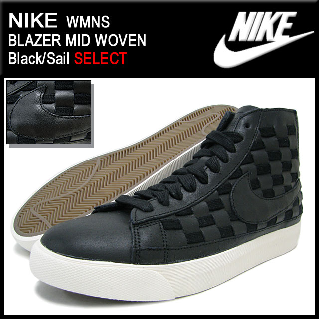 cheaper 4c4bf 6b8b6 ... Nike NIKE sneakers Womens Blazer mid woven Black Sail limited edition  men s (men s) ...