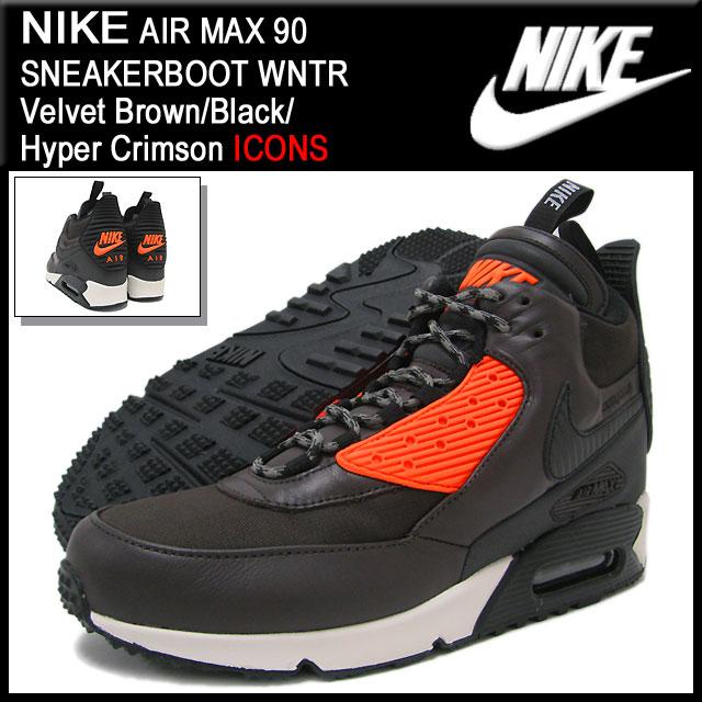941ff19a0b ... Nike NIKE sneakers Air Max 90 sneaker boots WNTR Velvet  Brown/Black/Hyper Crimson ...