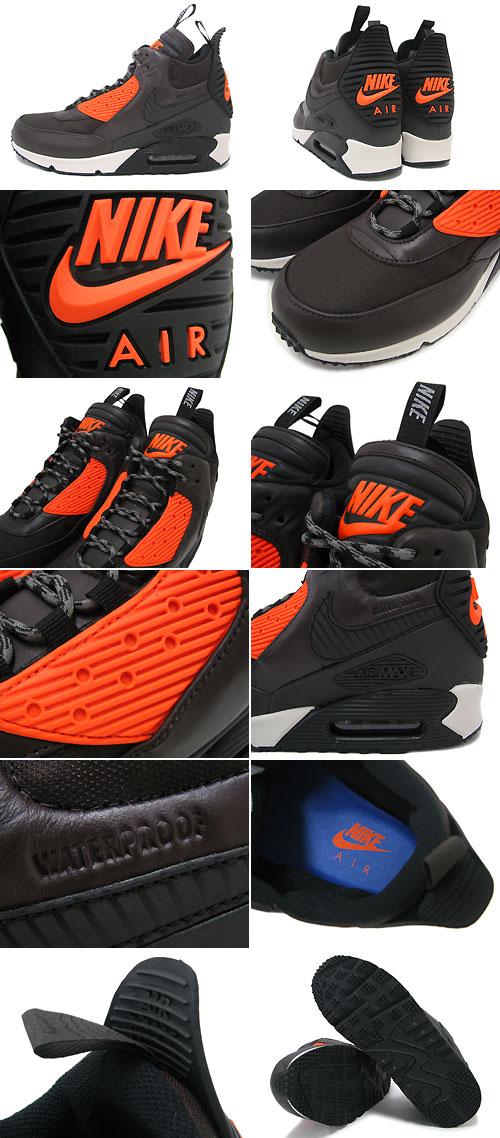 buy online 9bfa4 4334f ... Nike NIKE sneakers Air Max 90 sneaker boots WNTR Velvet Brown Black Hyper  Crimson