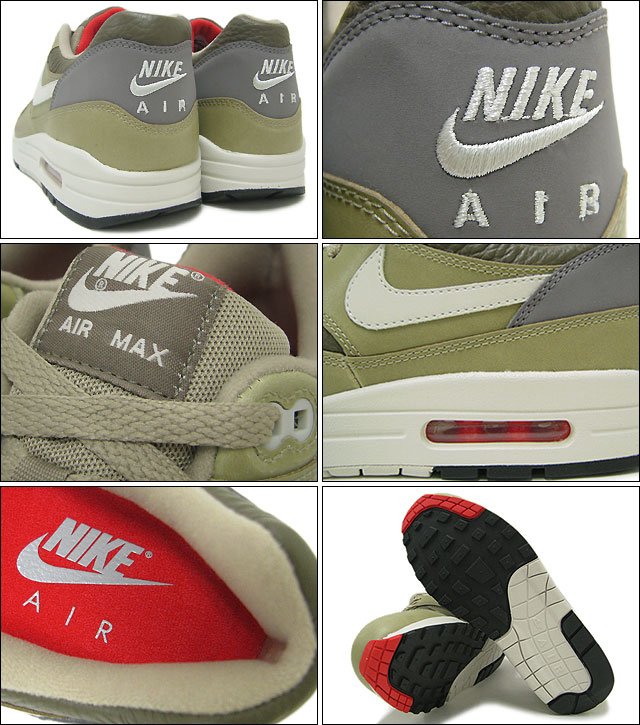 brand new 6e397 72f62 ... Nike NIKE sneakers Air Max 1 LTR Dark Dune Light Bone Bamboo qualified  men