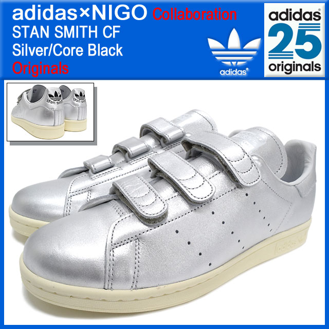 uk availability 34996 fc199 ... Adidas originals x NIGO adidas Originals by NIGO sneakers Stan Smith  comfort Silver Core Black ...