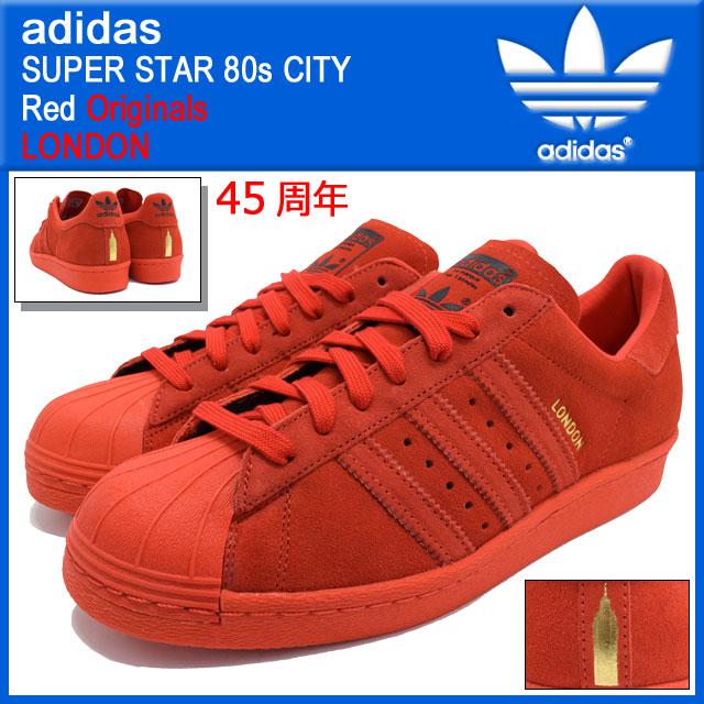 new concept c08dd 23ee1 ... Adidas adidas sneakers Super Star 80 s city Red London originals men s ( men s) ...