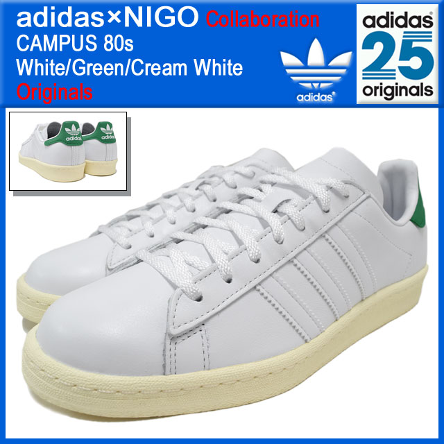 Adidas originals x NIGO adidas Originals by NIGO sneakers campus 80 s Whte/ green/ ...