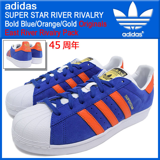 e37642386950 ... clearance adidas adidas sneakers super star river rivals leigh  centurions bold blue orange gold originals 4149b