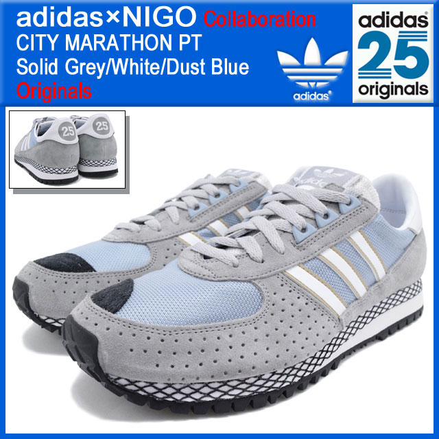 aa2f47eb2d84 Adidas originals x NIGO adidas Originals by NIGO sneaker City Marathon PT  Solid Grey White Dust Blue collaboration originals men s (men s) (ADIDAS  Adidas ...