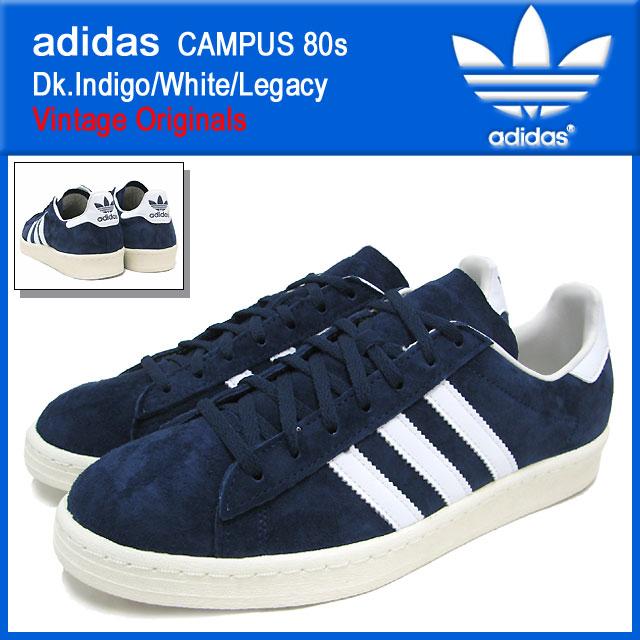 Adidas adidas sneakers campus 80s Dk.IndigoWhiteLegacy vintage originals men (male business) (adidas CAMPUS 80s Dk.IndigoWhiteLegacy Vintage
