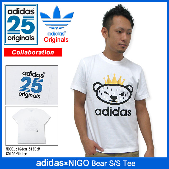 buy popular 92d87 69c0a Adidas originals x NIGO adidas Originals by NIGO bear T shirt short sleeve  collaboration originals (the Originals T shirts mens men's ADIDAS Adidas ...