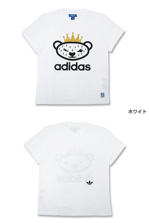 原件由 NIGO 熊 T 衬衫短袖协作原件 (原件 T 衬衫男装男式阿迪达斯阿迪达斯熊不锈钢三通尼日尔 W 名称 S07784) 冰的阿迪达斯原件 x NIGO 阿迪达斯提起冰原