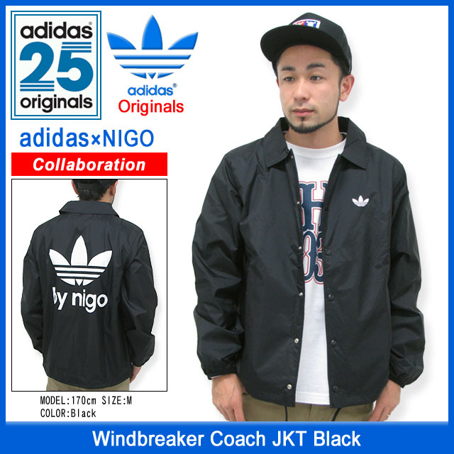 383d51eadb ... Adidas originals x NIGO adidas Originals by NIGO coach windbreaker  jacket black collaboration with originals ...