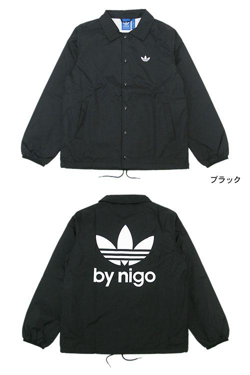 阿迪达斯原物 x 原件由 NIGO,尔后阿迪达斯教练风衣外套是黑色,协作与原件 (原件夹克男装男式阿迪达斯阿迪达斯风衣教练 JKT 黑色尼日尔 W 名称 M69176)