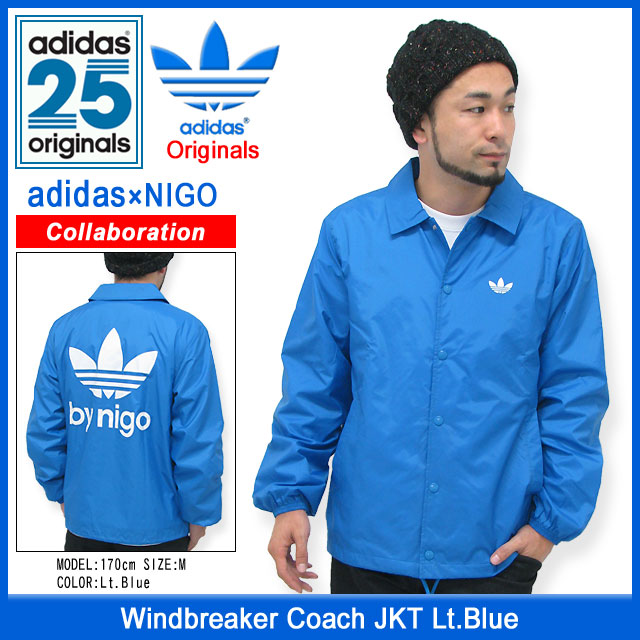 1bf9614d05e8 Adidas originals x NIGO adidas Originals by NIGO coach windbreaker jacket  light blue collaboration originals (the Originals jackets mens men s ADIDAS  Adidas ...