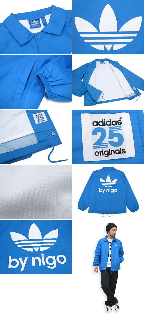 Adidas originals x NIGO adidas Originals by NIGO coach windbreaker jacket light blue collaboration originals (the Originals jackets mens men's ADIDAS Adidas Windbreaker Coach JKT Lt.Blue Niger W name M34755)