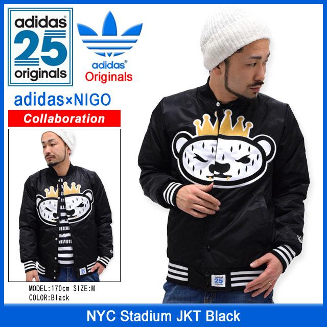 ... Adidas originals x NIGO adidas Originals by NIGO NYC Stadium jacket  black collaboration with originals ... f310e93e10