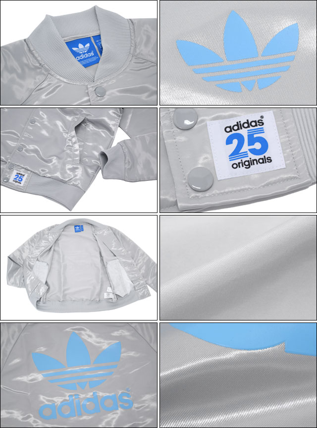 Adidas originals x NIGO adidas Originals by NIGO NYC satin snap Super Star track top jacket silver collaboration originals (NYC Satin Snap Super Star Track Top JKT Silver Niger W name men's men's tops JERSEY S23626)